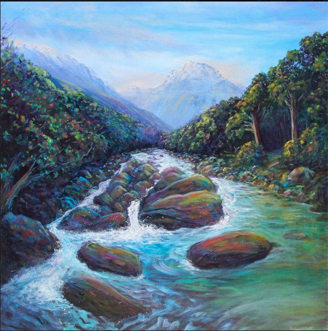 Mountain Stream - By Helen Blair http://shop.helenblairsart.co.nz