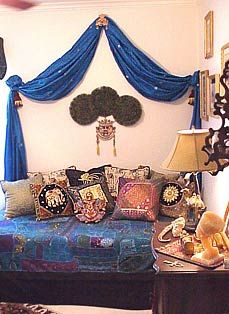 Ethnic Bedroom-accents and lighting