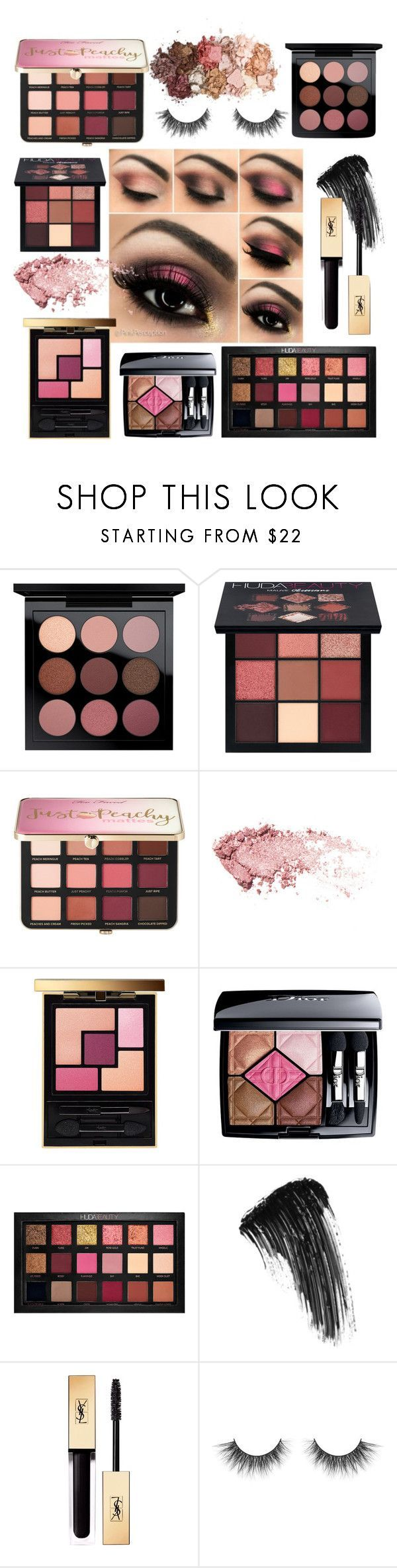 Get The Look: Pink Smokey Eye by rosegoldpearls featuring beauty from Huda Beauty, Sephora Collection, Yves Saint Laurent, Christian Dior, MAC Cosmetics, and Sigma  #Affiliate