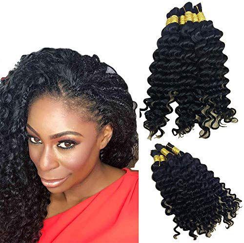 New Hannah Queen Wet N Wavy Bulk hair HUMAN HAIR Micro Braiding 3 Bundle 300g Brazilian Deep Curly Wave Bulk Hair For Braiding Human Hair No Weft (26 26 26 Natural Black #1B) online shopping