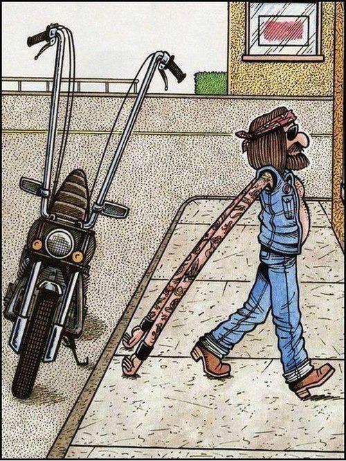 #caricature #cartoon #comic #motorcycle
