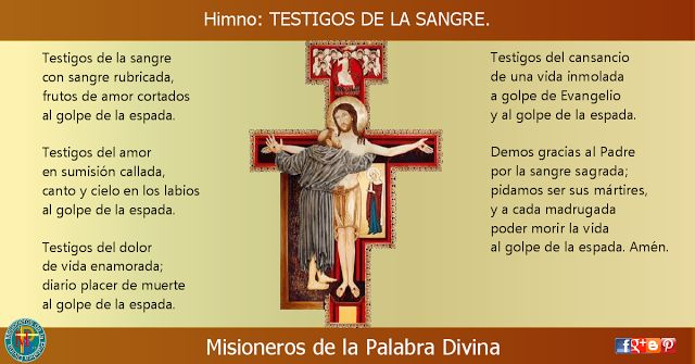 MISIONEROS DE LA PALABRA DIVINA: HIMNO LAUDES - TESTIGOS DE LA SANGRE