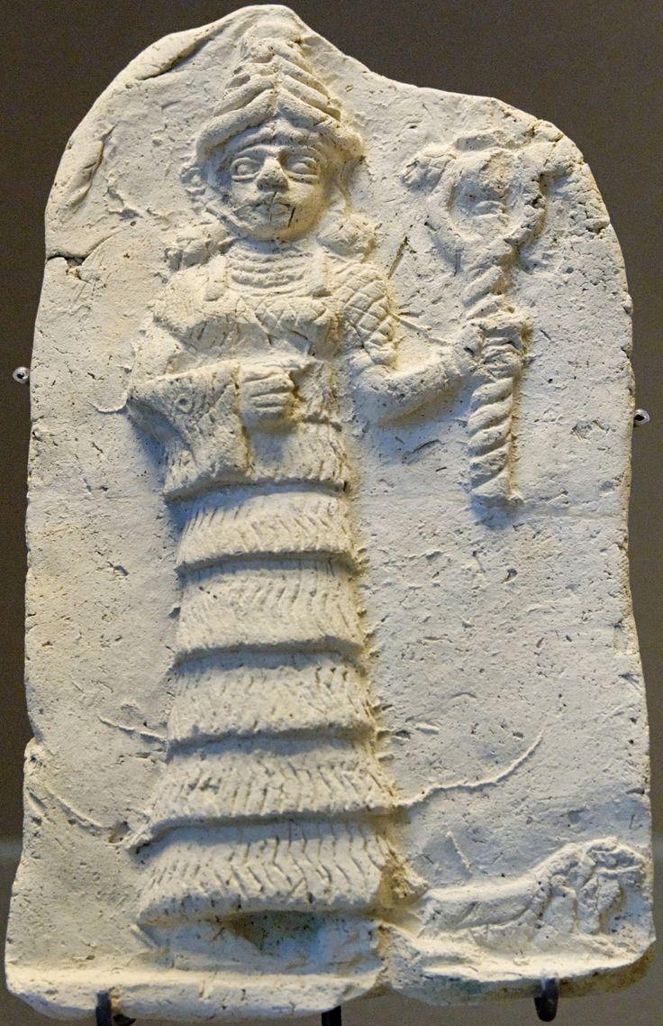 Babylonian pottery figure of Snake Goddess 2nd millenium B.C. Louvre Museum