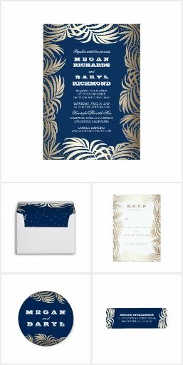 Palm Leaves Glitter Beach Wedding Collection