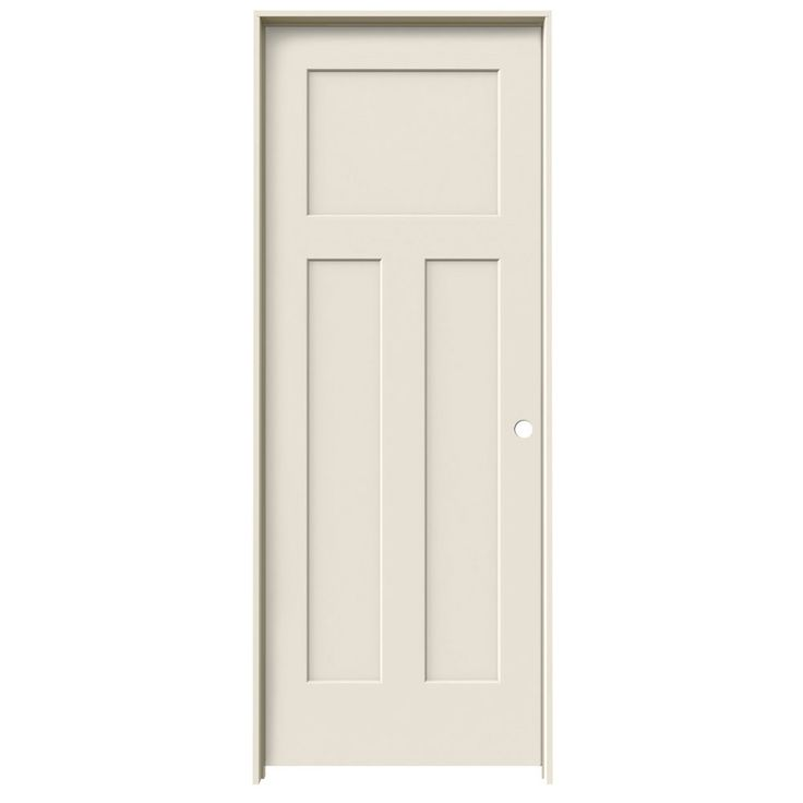 Jeld wen prehung hollow core 3 panel craftsman interior door common 30 in x 80 in actual 31 - Hollow core interior doors lowes ...