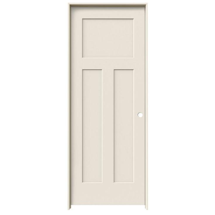 Jeld wen prehung hollow core 3 panel craftsman interior for Door 31 5 x 79