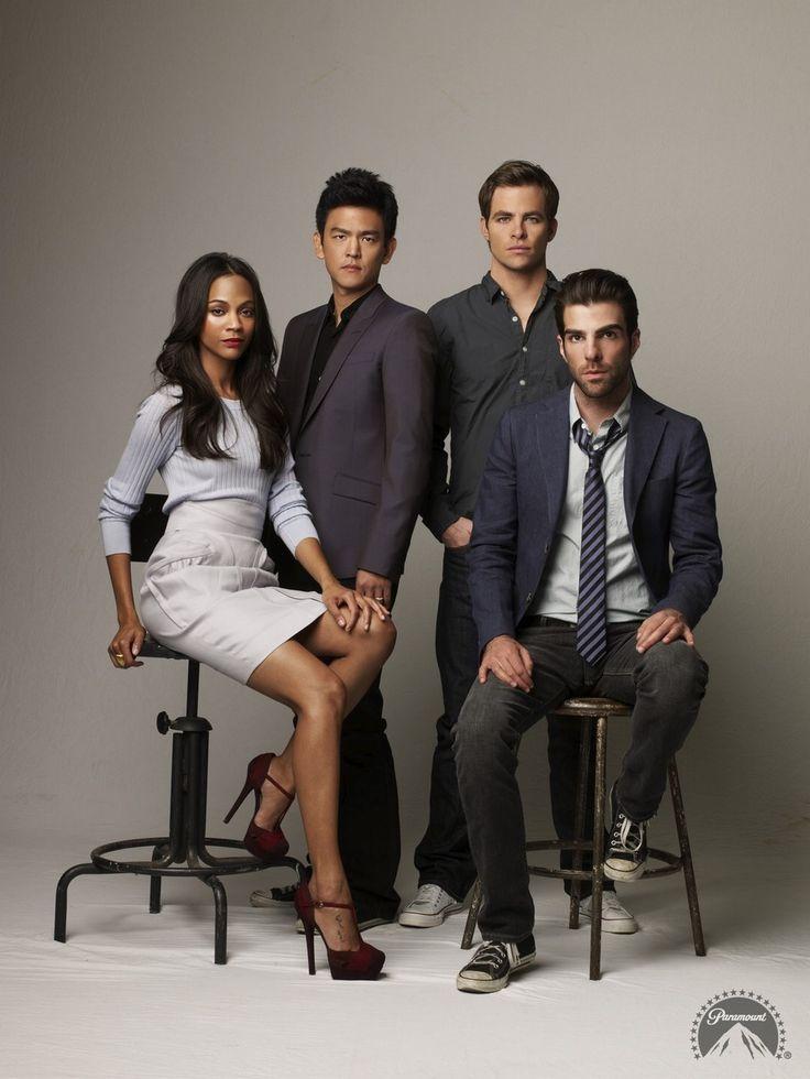 Zoe Saldana, John Cho, Chris Pine and Zachary Quinto: Stars of Star Trek Into Darkness <<<<< Where's Bones?!?!?! :O<<<Wheeeeeeeere is Karl?