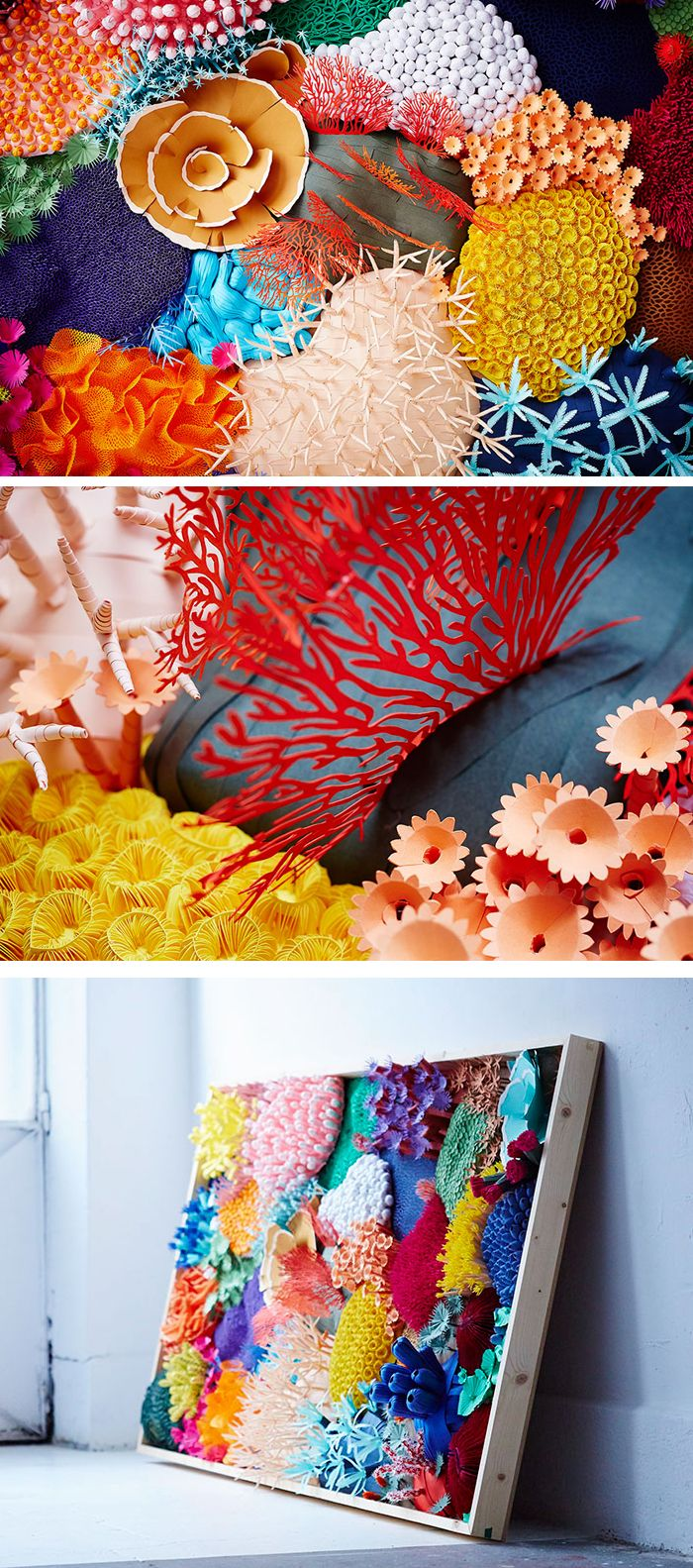Reduce Paper Aid Sculpture is a Sensible Option to Illustrate the Variety of a Coral Reef