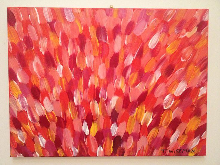 Abstract Tulip Field Acrylic