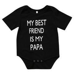 My Best Friend Is My Papa Baby Bodysuit