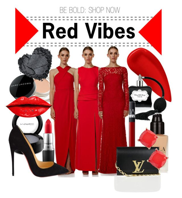 """""""Langhem: Red Vibes"""" by swishclothing-official on Polyvore featuring Marc Jacobs, Lipstick Queen, MAC Cosmetics, NARS Cosmetics, Louis Vuitton, Christian Louboutin, BP., women's clothing, women's fashion and women"""
