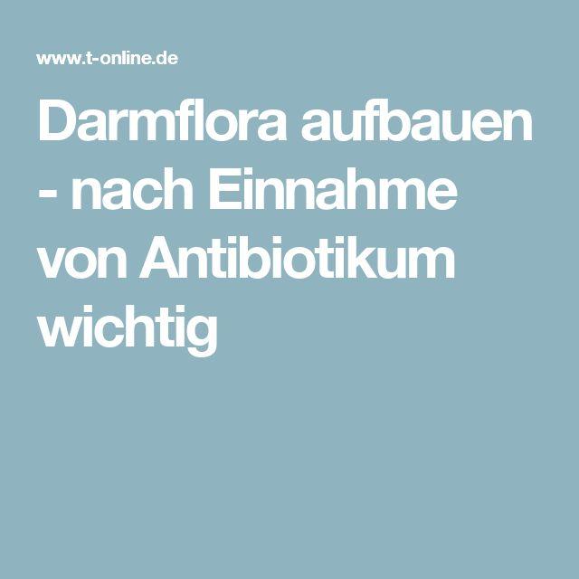 Darmflora aufbauen - nach Einnahme von Antibiotikum wichtig