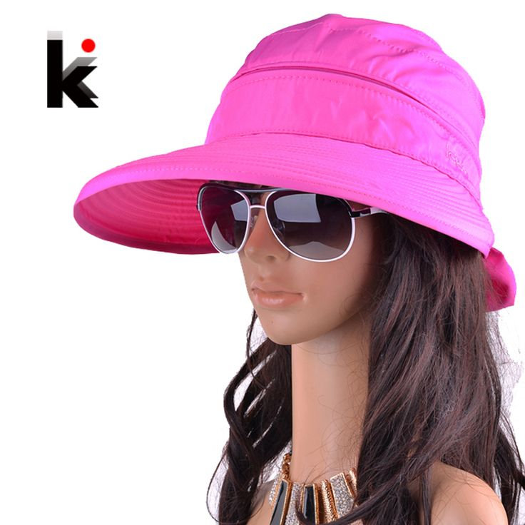 Free shipping 2015 summer hats for women chapeu feminino new fashion outdoors visors cap sun collapsible anti-uv hat 8 colors