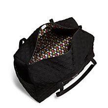 Large Duffel Travel Bag in Classic Black | Vera Bradley