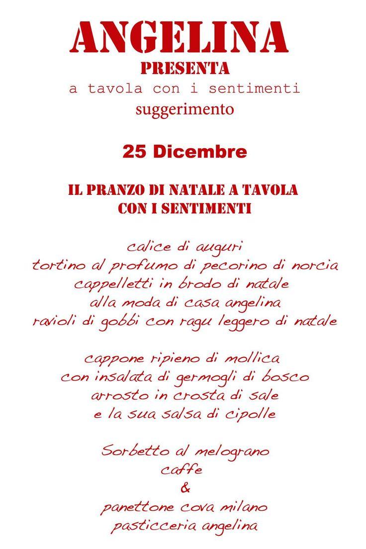 25 DICEMBRE h 12,30 PRANZO DI NATALE A TAVOLA CON I SENTIMENTI #DIMORACONTEMPOTANEA #NATALE