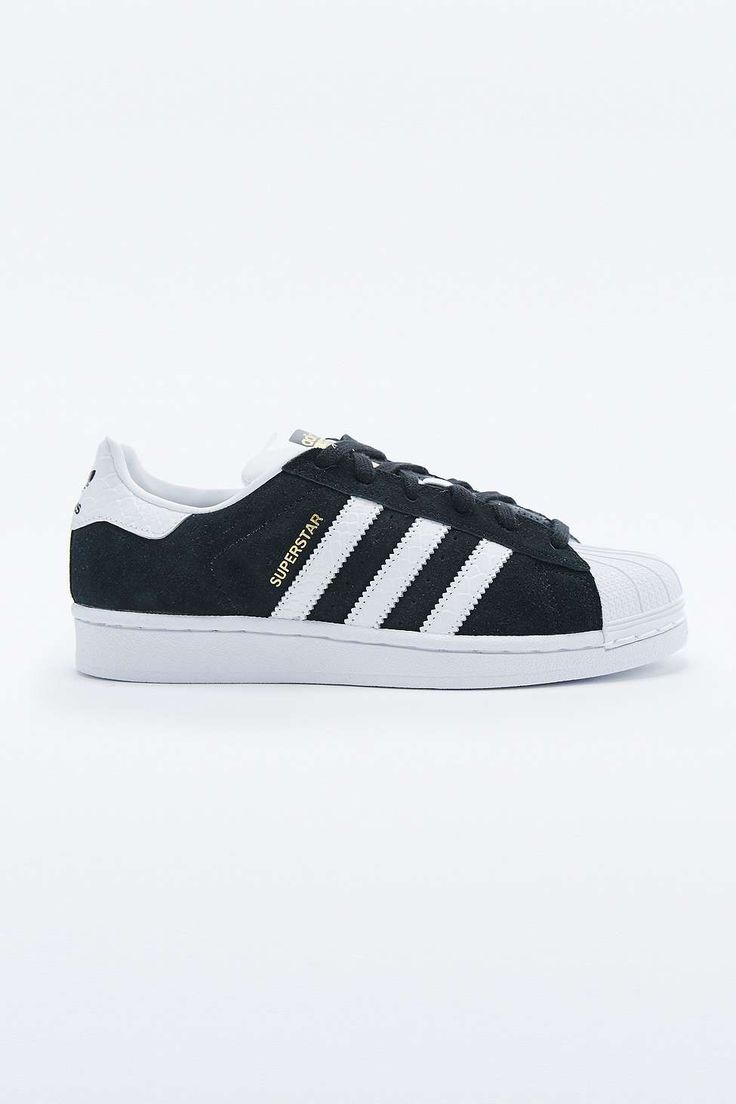 adidas Originals Superstar Trainers in Black and White