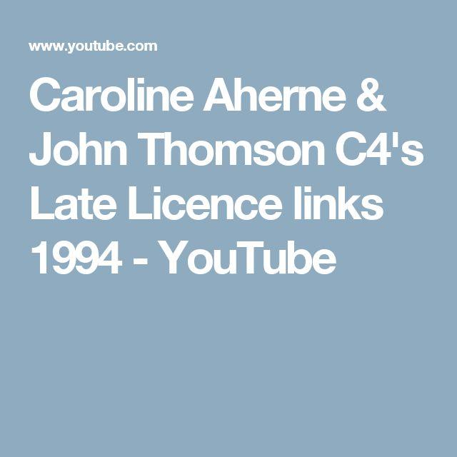 Caroline Aherne & John Thomson C4's Late Licence links 1994 - YouTube