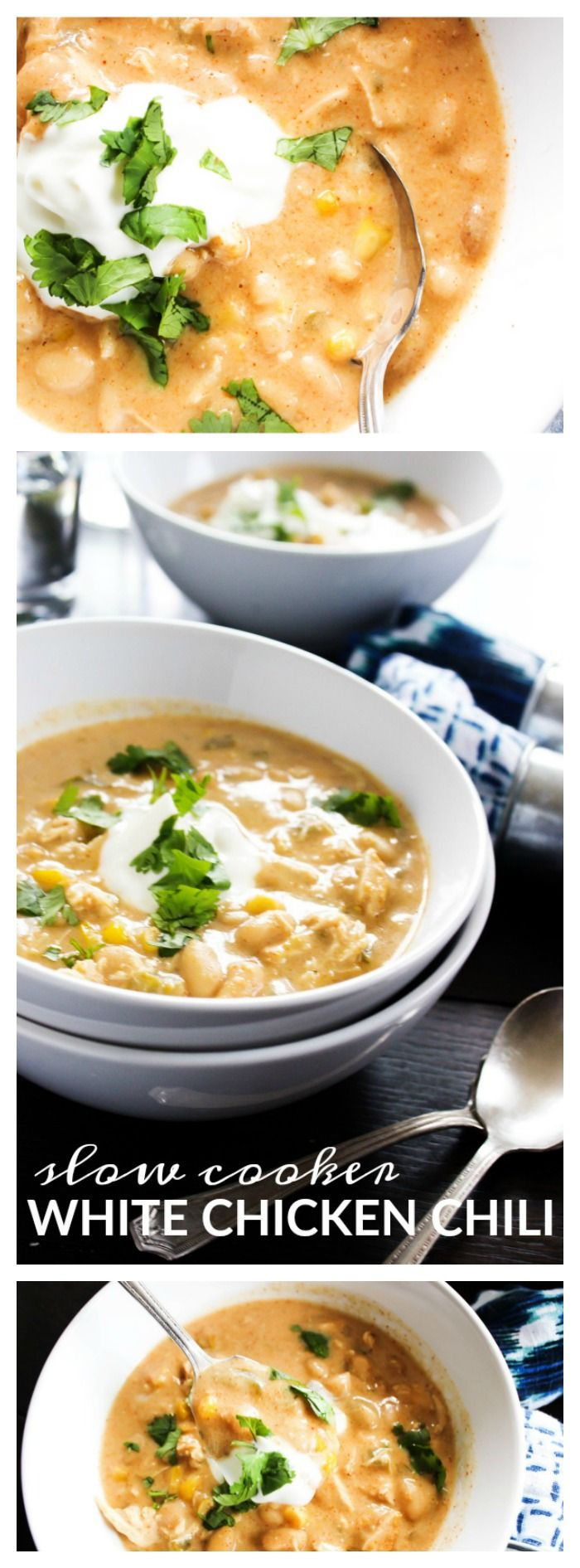 Slow Cooker White Chicken Chili - A Dash of Sanity