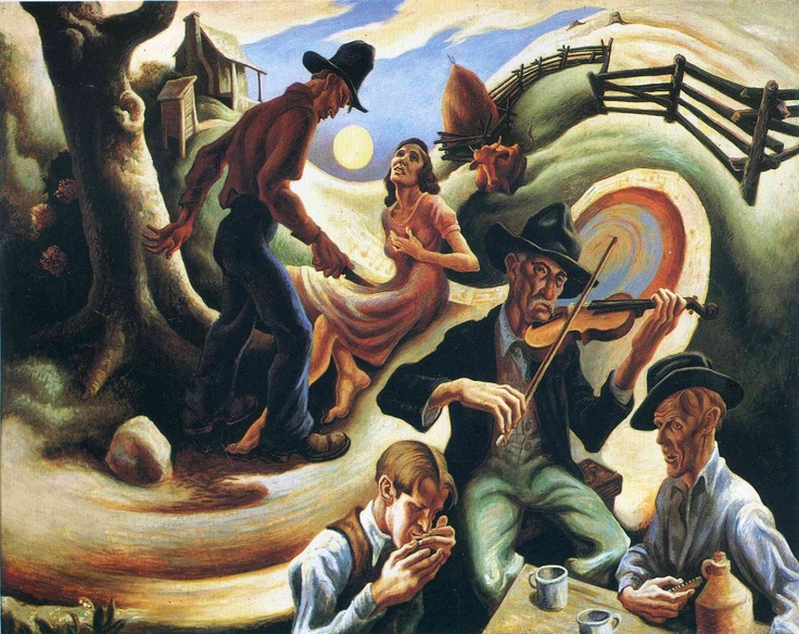 The Ballad of the Jealous Lover of Lone Green Valley by Thomas Hart Benton - American PainterModern Art, Thomas Hart Benton, Painting Art, Art Prints, Jealous Lovers, Lonely Green, Ballad, Green Valley, Thomashartbenton