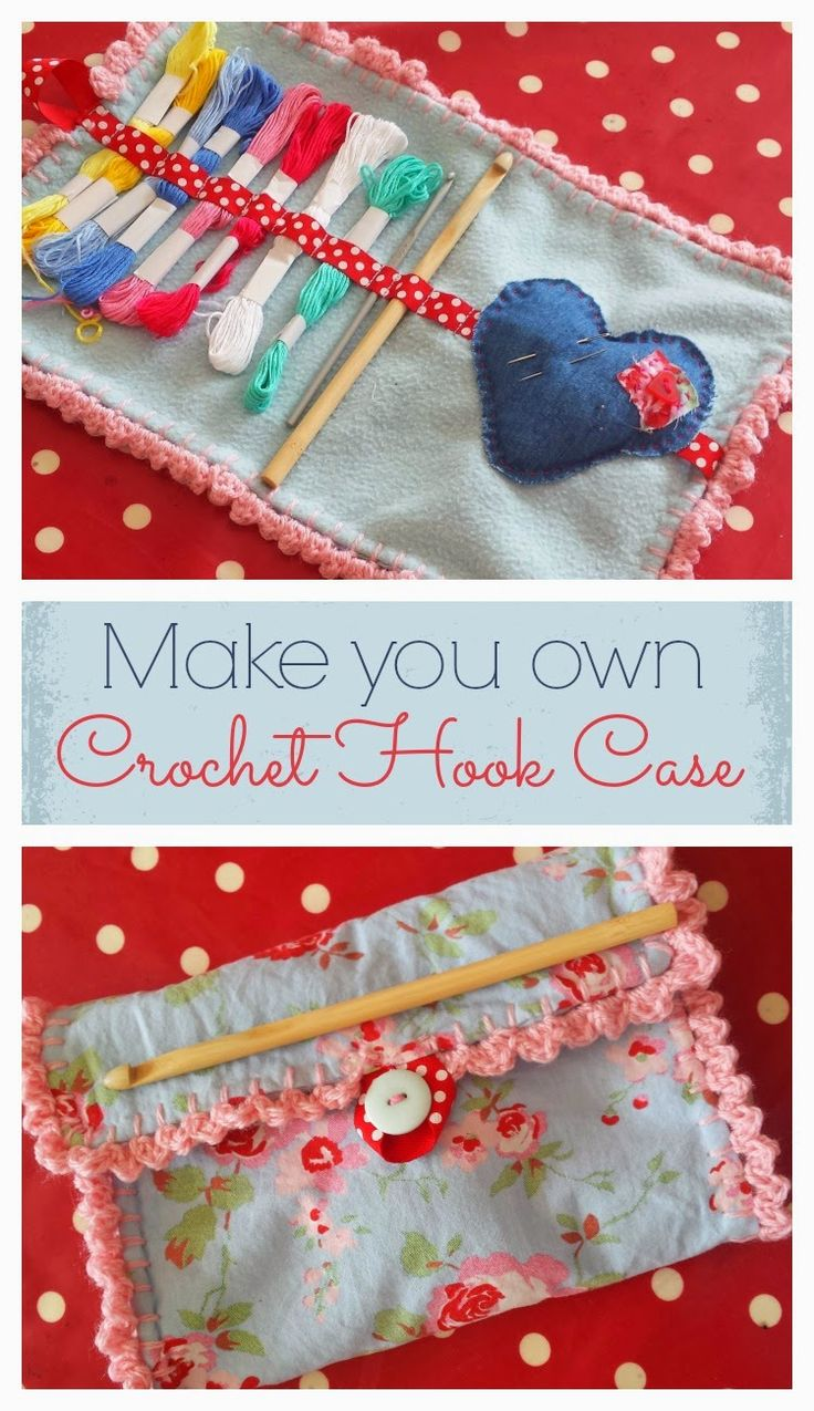 Make your own crochet hook/ Make-up brush case http://www.snapshotandsnippets.com/2014/06/make-your-own-crochet-hook-make-up.html