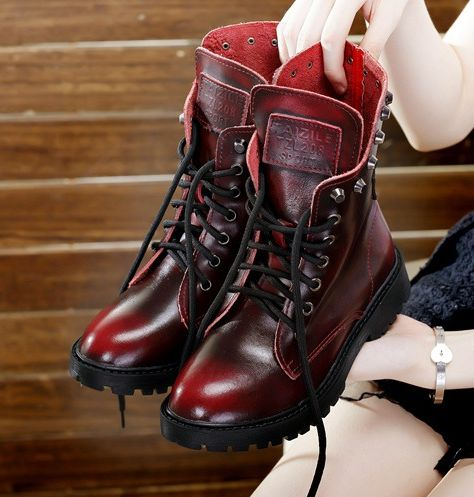 Fashion punk martin boots