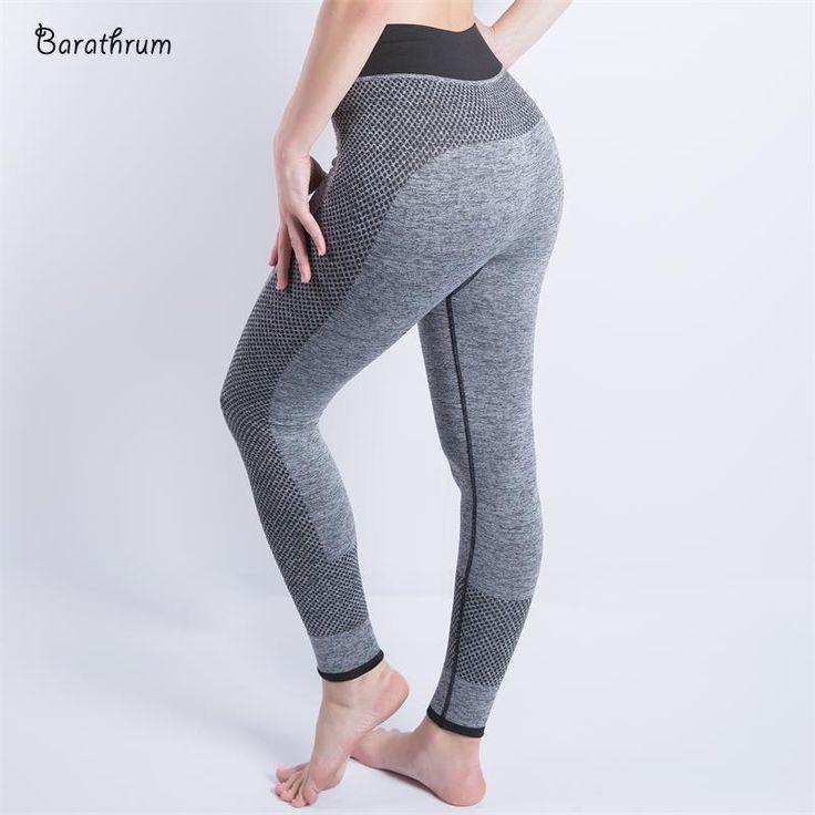 2017 New Women Sexy Cropped Leggings High Waist Elastic Wicking Force Exercise Female Elastic Fitness Leggings Slim Trousers 001
