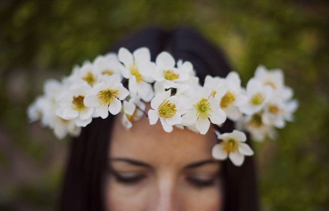 DIY: Flower Crown | Green Wedding Shoes Wedding Blog | Wedding Trends for Stylish + Creative Brides