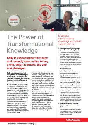 The power of transformational knowledge - CallCentre.co.uk