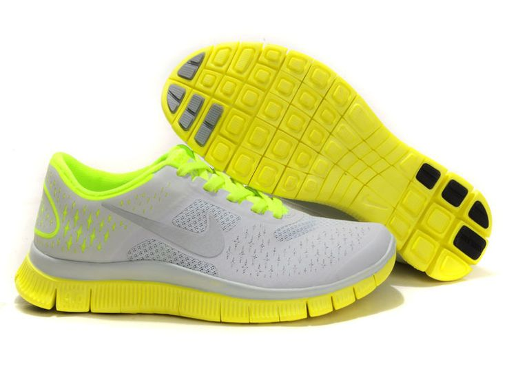... online sneakler 18cb5 02ab2 Nike Womens Shoes Nike Free 4.0 V2  Gray-Yellow-Green ...