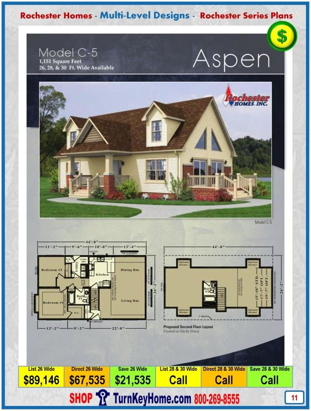 Modular Home Rochester Homes Cape Cod Aspen C5