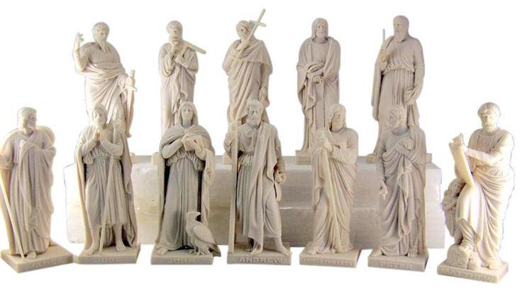 The Twelve 12 Apostles 8 inch White Resin Disciples of Jesus Christ Statue Set | eBay