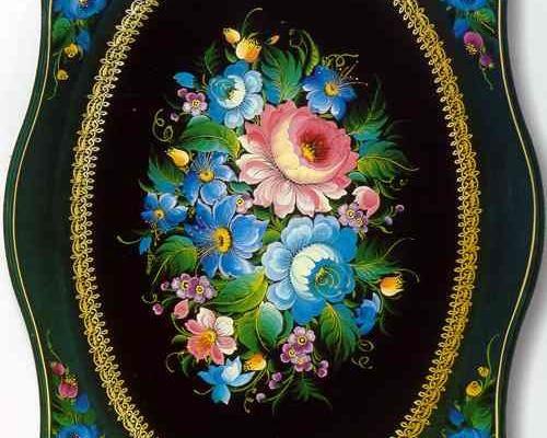 Тагильская лаковая роспись ( поднос )