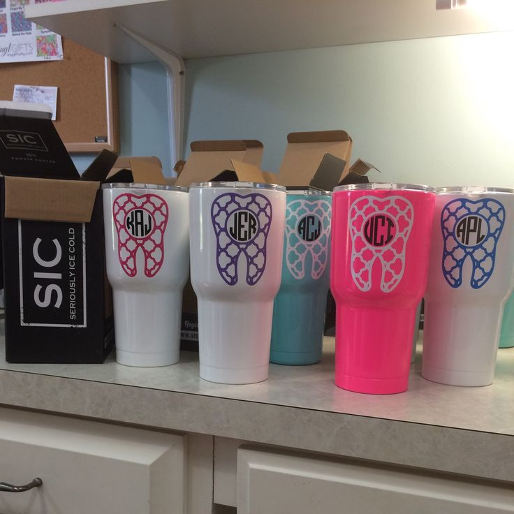 The perfect gift idea for any Dental Hygienist, Dentist or Assistant. 30 ounce SIC monogram tumblers.