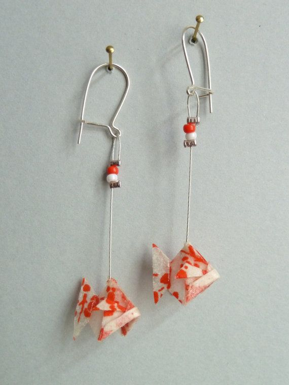 162 best Origami Earrings images on Pinterest | Paper ... - photo#30