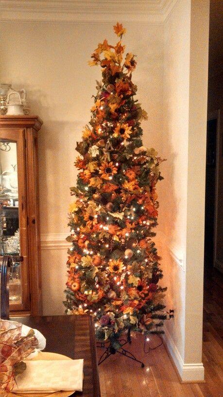 My Fall tree  I Lovee to decorate for any season...