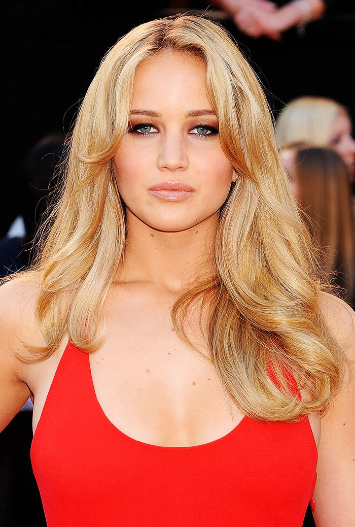 Jennifer Lawrence with long hair