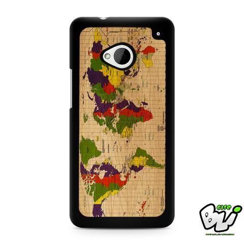 World Map HTC G21,HTC ONE X,HTC ONE S,HTC M7,M8,M8 Mini,M9,M9 Plus,HTC Desire Case