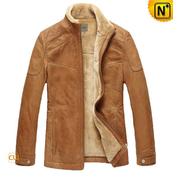 Expensive Leather Coats for Men | Mens Fur Lined Cowhide Leather Jacket - CWMALLS.COM