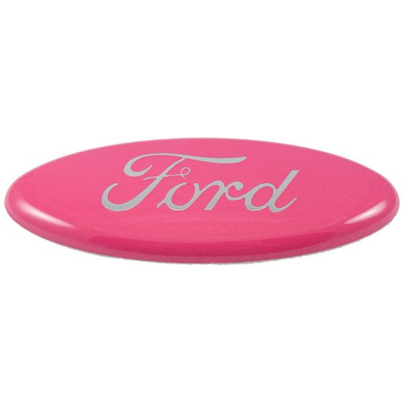 Hey, I found this really awesome Etsy listing at https://www.etsy.com/listing/179587745/custom-ford-emblem-pink-with-chrome-2004