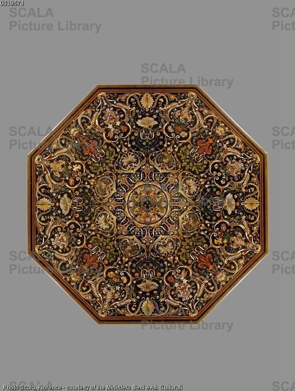 Ligozzi Jacopo e Poccetti Bernardino  Tavolo ottagonale Ubicazione: Opificio delle Pietre Dure Città: Firenzec.jpg (604×800)