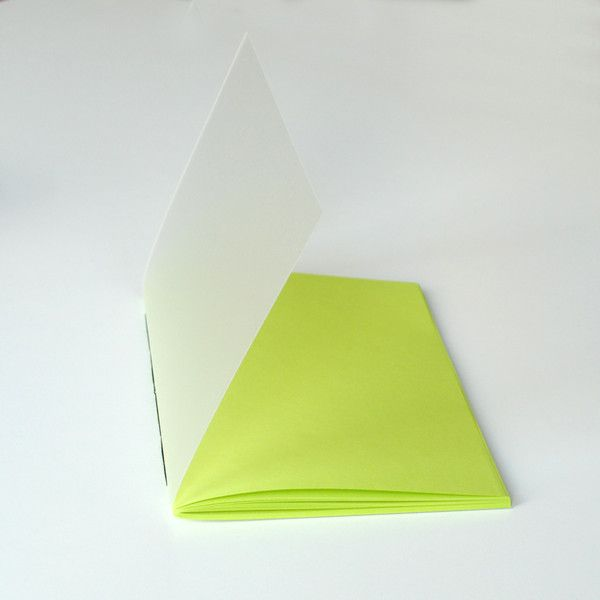 A5 – lime notebook with mat plexiglass cover A5 – a unique product by Kajet on DaWanda
