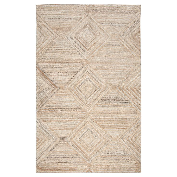 Geometric/Solid Rug - Tan - (10'X13') - Rizzy Home