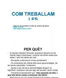 COM TREBALLAM LES CONFERÈNCIES (Pere Alzina + Escola Margarita Florit, Ciutadella, Menorca)