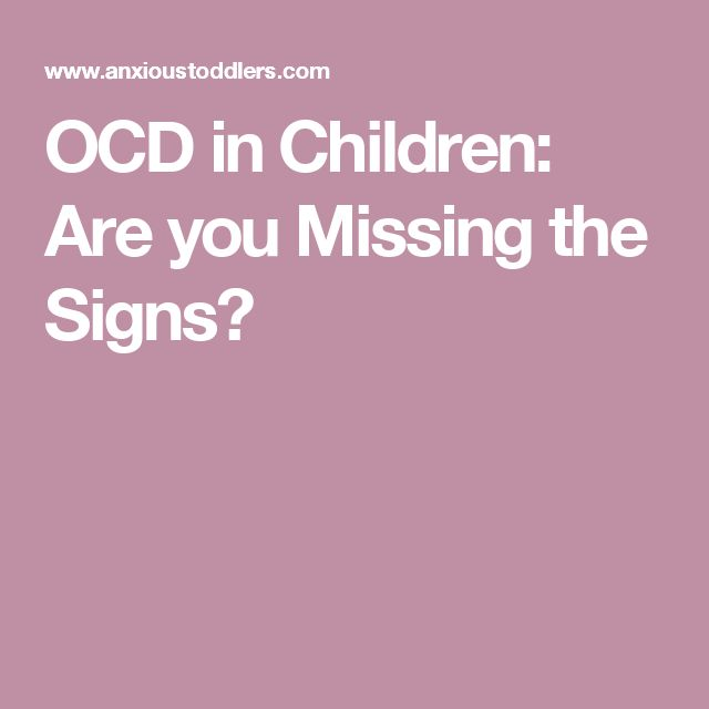 OCD in Children: Are you Missing the Signs?
