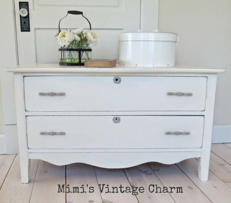 Mimis Vintage Charm Old White ASCP Dresser The