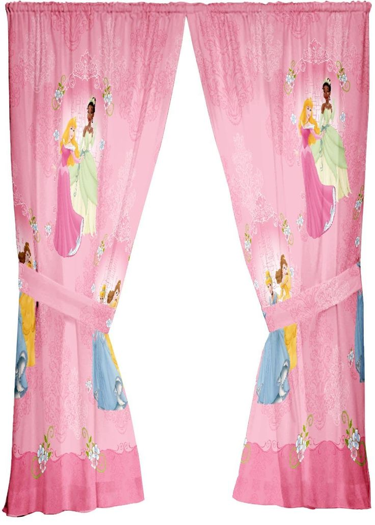 #beautiful pink #curtain in Disney print