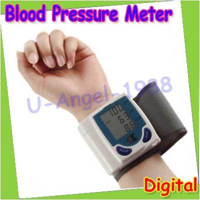 Lcd Digital de pulso Monitor de pressão arterial coração bater medidor máquina alishoppbrasil