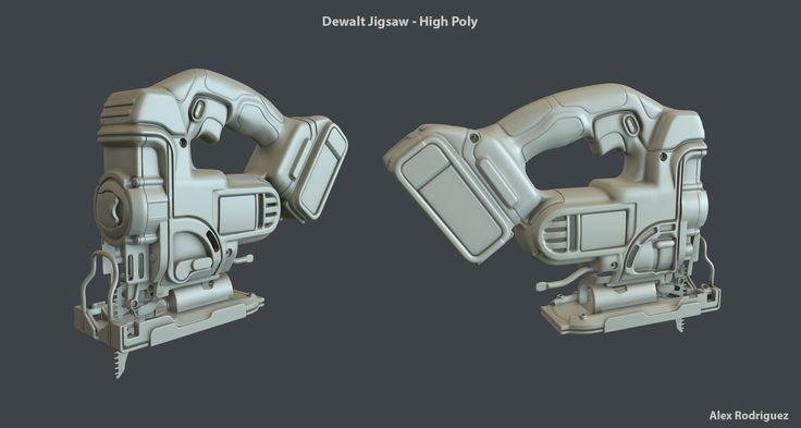 ArtStation - DeWalt Jigsaw DCS331B High/Low, Alex Rodriguez