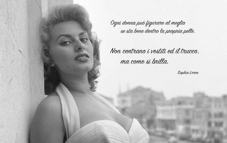 Sophia Loren aforismi - Le Profumerie   Vendita On-Line Profumi