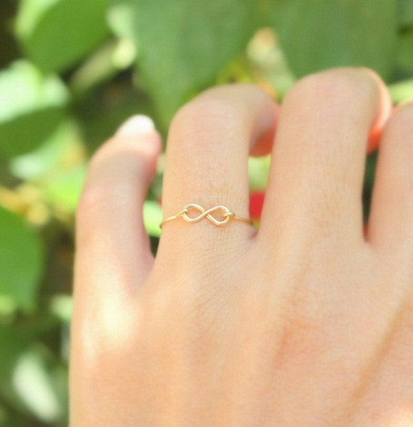 Infinity Ring - Valentine's Day, Best friend infinity ring,14k gold filled handmade wire ring , gold ring,simple gold ring,everyday. $21.00, via Etsy.